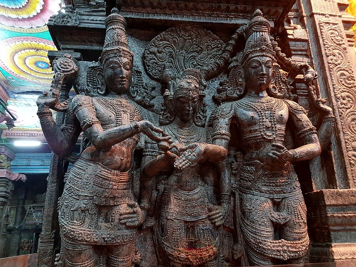 Le mariage de Civa et Parvati avec Vishnou comme témoin Auteur: Richard Mortel